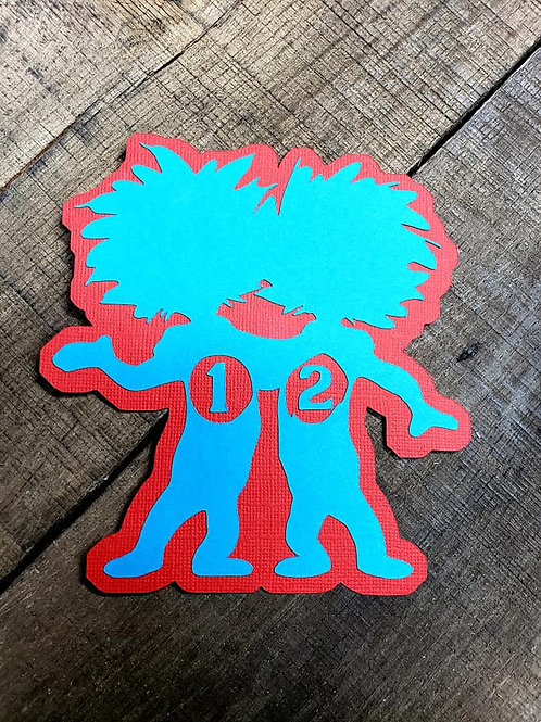 Thing 1 Thing 2 Paper Piecing Die Cut