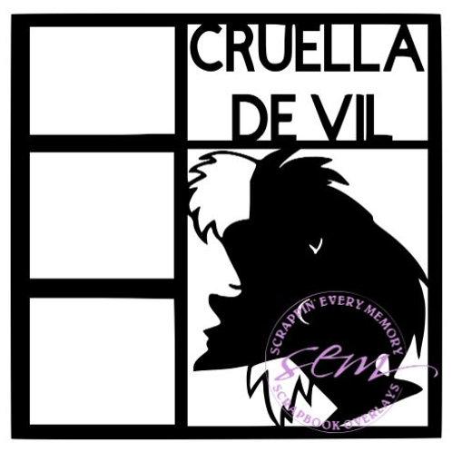 Cruella De Vil Scrapbook Overlay