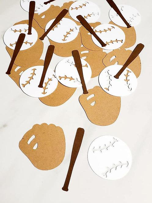 Baseball Scrapbook Page Confetti