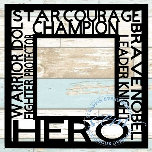 Hero Tag Text Scrapbook Overlay
