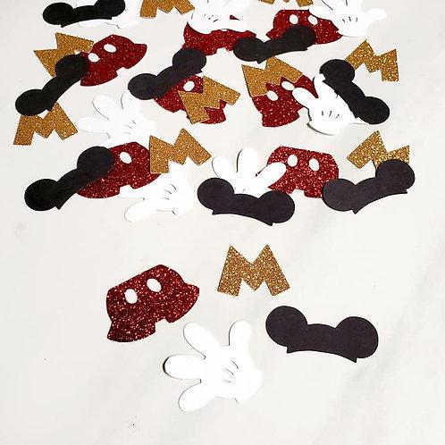 Mickey Scrapbook Page Confetti