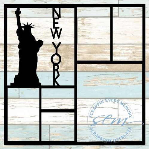 New York Scrapbook Overlay