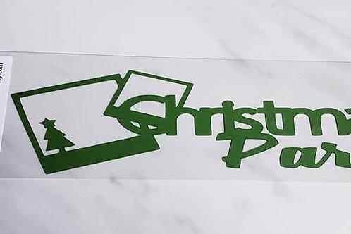 Christmas Party Scrapbook Deluxe Die Cut