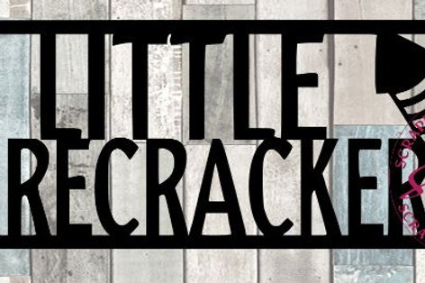 Little Firecracker Scrapbook Title