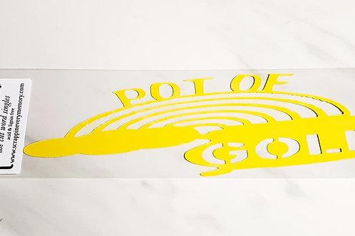 Pot Of Gold Scrapbook Deluxe Die Cut