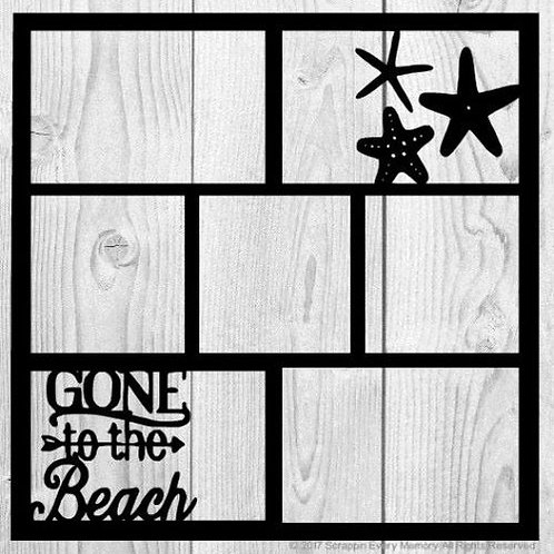 Gone To The Beach Scrapbook Overlay