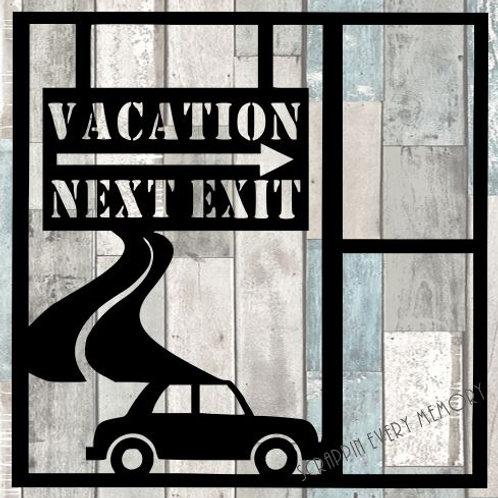 Vacation Next Exit Scrapbook Overlay