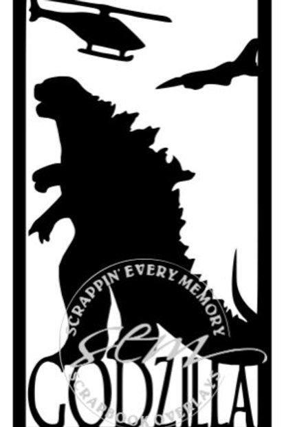 Godzilla Vertical Scrapbook Title