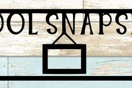 School Snapshot Scrapbook Title