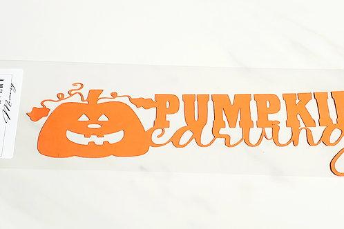 Pumpkin Carving Scrapbook Deluxe Die Cut