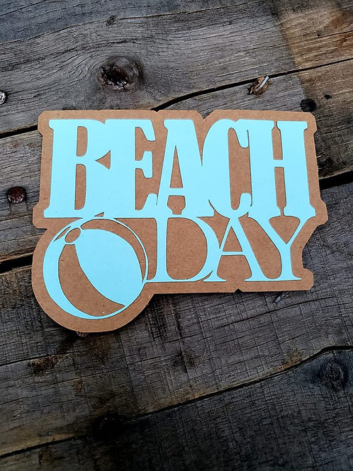 Beach Day Paper Piecing Die Cut