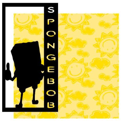 Spongebob Vertical Scrapbook Title