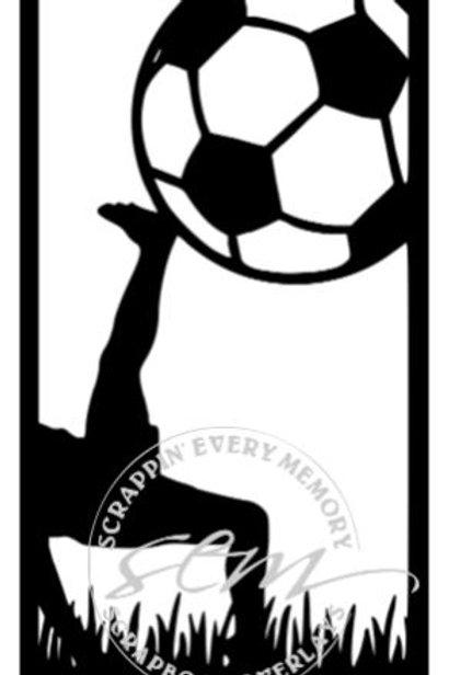 Soccer Vertical Scrapbook Title