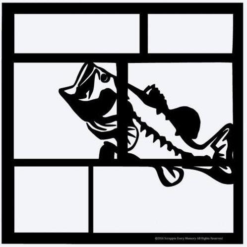 Bass Fish Scrapbook Overlay