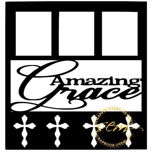 Amazing Grace Scrapbook Overlay