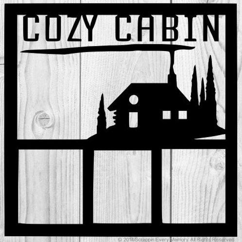 Cozy Cabin Scrapbook Overlay