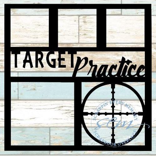 Target Practice Scrapbook Overlay
