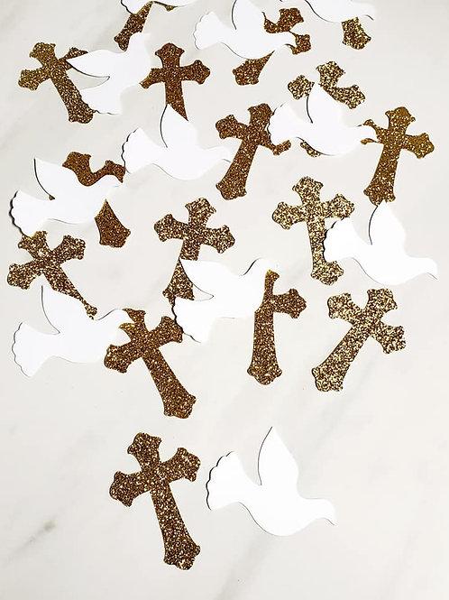 Religious Scrapbook Page Confetti