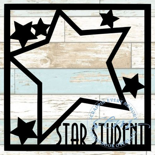 Star Student Scrapbook Overlay