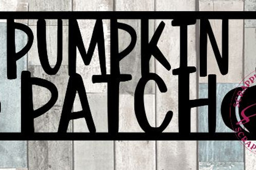 Pumpkin Patch Scrapbook Title