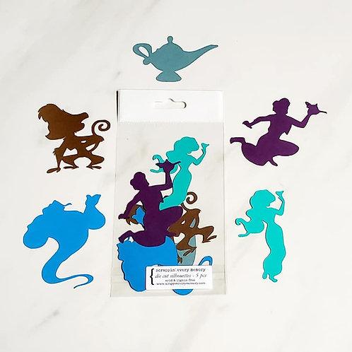 Aladdin Theme Die Cut Silhouette Mini Set