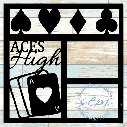 Aces High Scrapbook Overlay