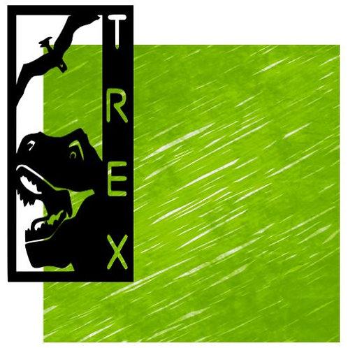 T Rex Vertical Scrapbook Title