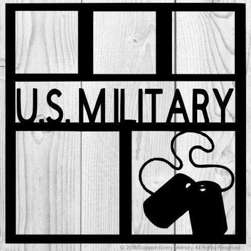 US Military Scrapbook Overlay