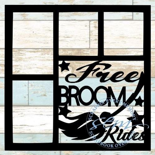 Free Broom Rides Scrapbook Overlay