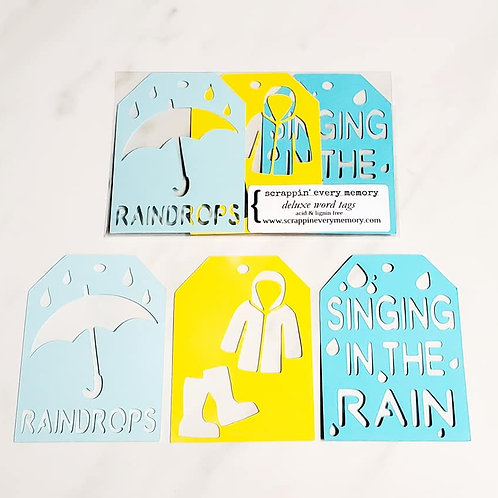 Rain Deluxe Word Tags