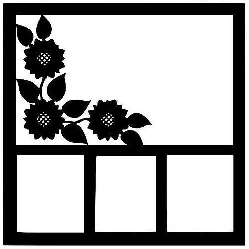 Floral Border Scrapbook Overlay