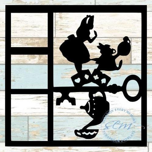 Alice In Wonderland Scrapbook Overlay