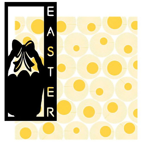 Easter Vertical Scrapbook Title