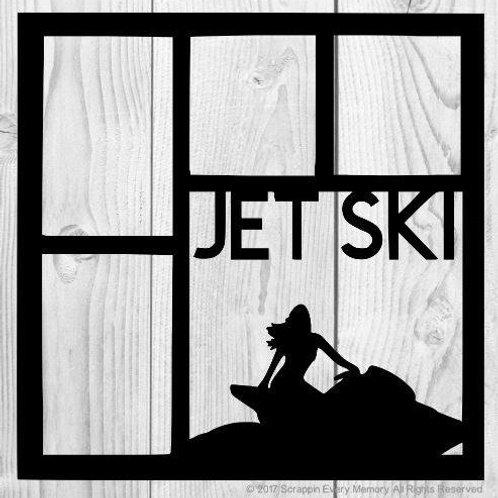 Jet Ski Scrapbook Overlay