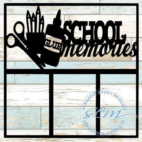 School Memories Scrapbook Overlay