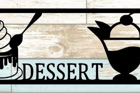 Eat Dessert First Scrapbook Title