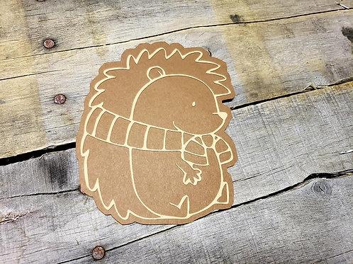 Hedgehog Paper Piecing Die Cut