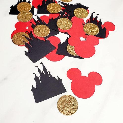 Disney Scrapbook Page Confetti