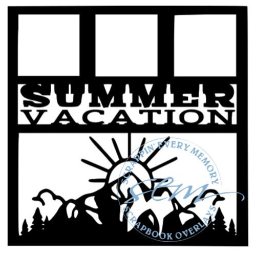 Summer Vacation Scrapbook Overlay