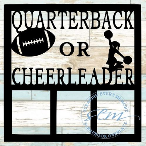 Quarterback or Cheerleader Scrapbook Overlay