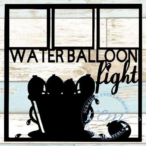Water Balloon Fight Scrapbook Overlay