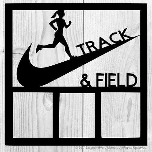 Track & Field Scrapbook Overlay