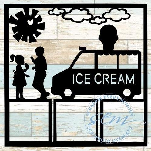 Ice Cream Truck Scrapbook Overlay