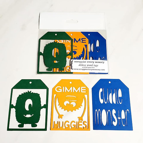 Cuddle Monster Deluxe Word Tags