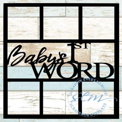 Baby's 1st Word Scrapbook Overlay