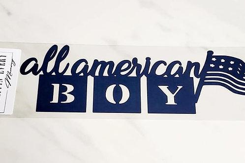 All American Boy Scrapbook Deluxe Die Cut