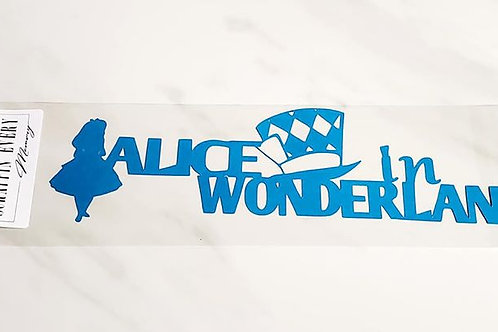 Alice In Wonderland Scrapbook Deluxe Die Cut