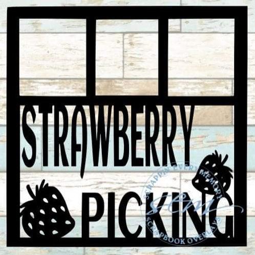 Strawberry Picking Scrapbook Overlay