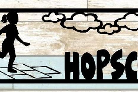 Hopscotch Scrapbook Title