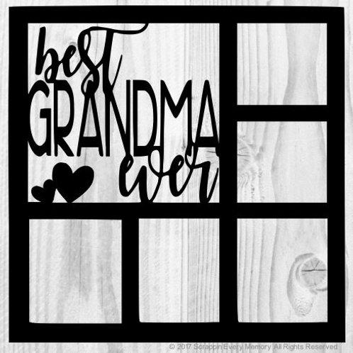 Best Grandma Ever Scrapbook Overlay